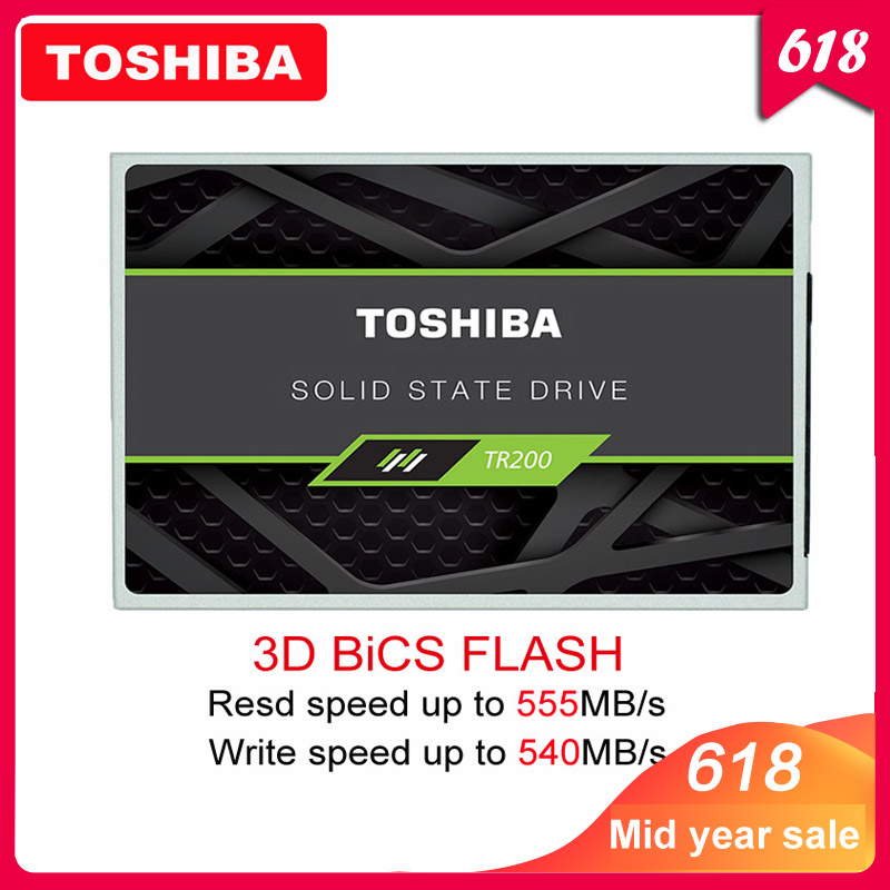 "100% TOSHIBA 240GB Solid State Drive TR200 480GB 64-layer 3D BiCS FLASH TLC 2.5"" SATA III SSD 960GB Internal Disk for PC Laptop(China)"
