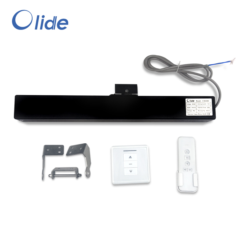 Black Automatic Chain Window Opener,Customizable Electric Window Closer with remote control and receiver