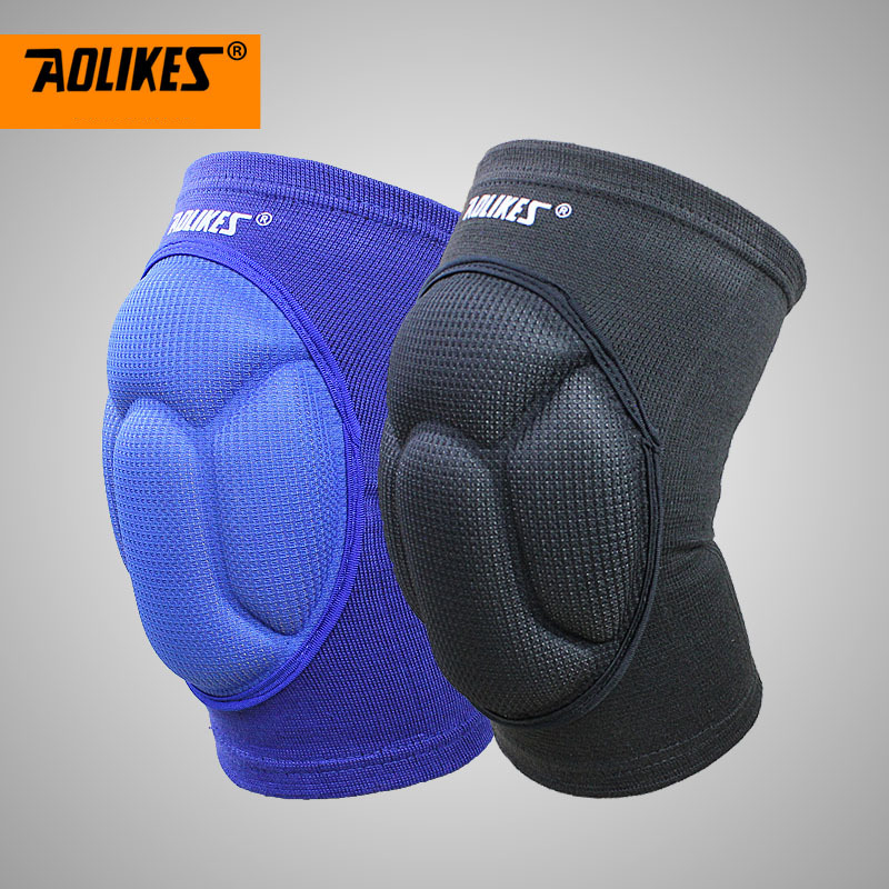 1 Pair Adult Men Outdoor Fitness Knee Pads Support Patella Guards Sport Safety Football Volleyball Thicken Sponge Knee Protect(China)