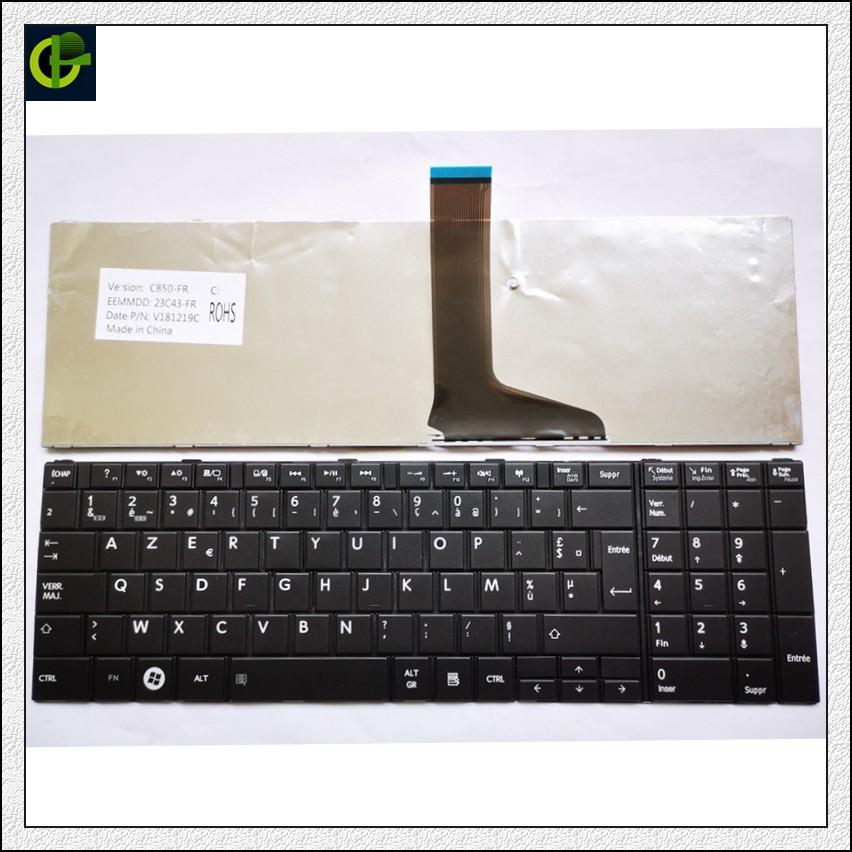 French Keyboard For TOSHIBA SATELLITE C850 C855D C850D C855 C870 C870D C875 C875D L875 L875D Black FR AZERTY Keyboard image