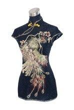 Dropshipping Black Women's Lace Sexy Shirt Tops Vintage Embroidery Phenix Blouse Crochet Hollow Out Costume S M L XL XXL J012-B