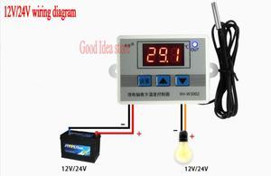 Image 4 - W3002 220 V 12 V 24 V デジタル温度コントローラ 10A サーモスタット制御スイッチプローブ防水センサーサーモスタット