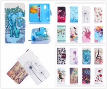 Case For Samsung Galaxy S5 S 5 V SV mini G800 G800F G800H SM-G800F SM-G800H Painting Leather Case Flip Phone Cover For S5mini