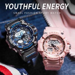 Image 2 - Sport Watch Digital Woman SMAEL Women Clock Bracelet Ladies Military Army LED Watch reloj mujer1808 Women Watches 50M Waterproof