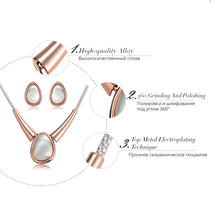 New Rose Gold/Silver/Gold Jewelry Set for Woman