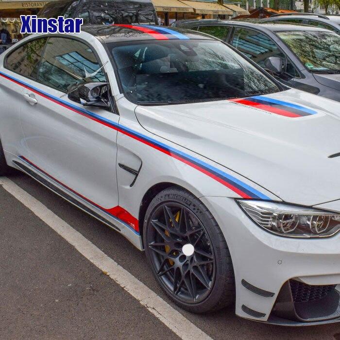 1 set M power performance car door sticker for BMW F30 F10 E60 E90 M3 M4