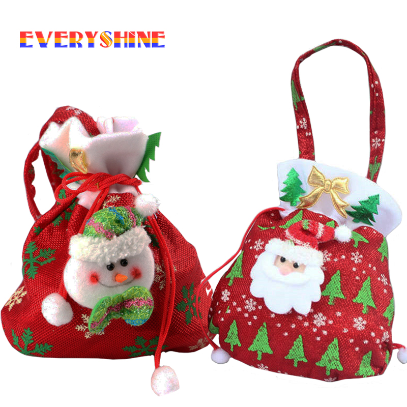 2017 New Year Gift Bags Santa Claus Snowman Candy Bag ...