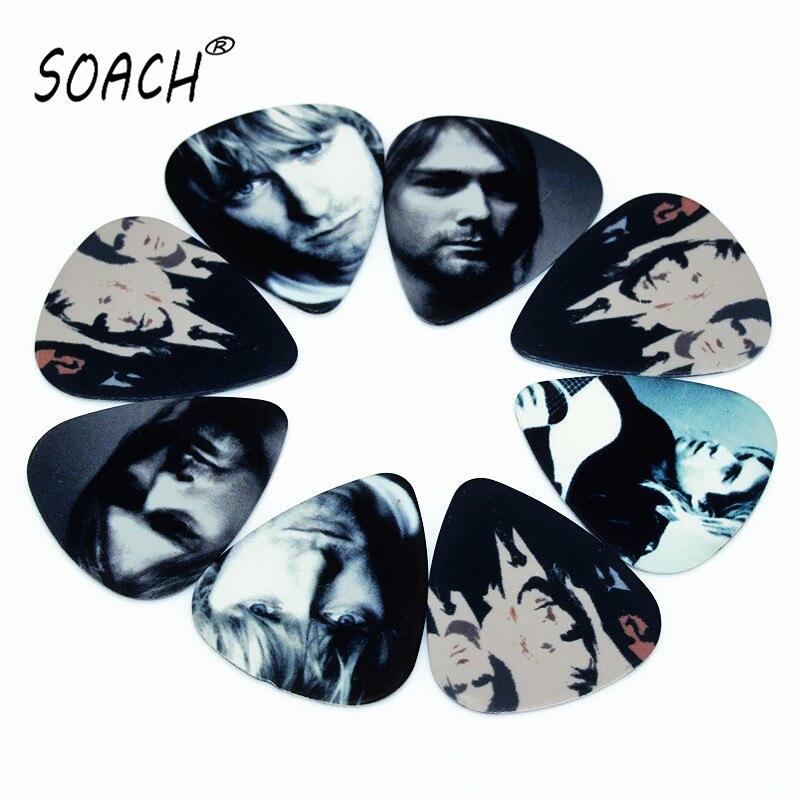 SOACH 50PCS 0.71mm High Quality Guitar Picks Two Side Pick Ukulele Picks Earrings Mix Picks Guitar