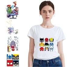 Marvel Superhero Kawaii Spider-Man Plus Size Loose O-NECK Modal Short Sleeve Women Clothes Fashion Casual Women's T A193291 q and q vq90 010