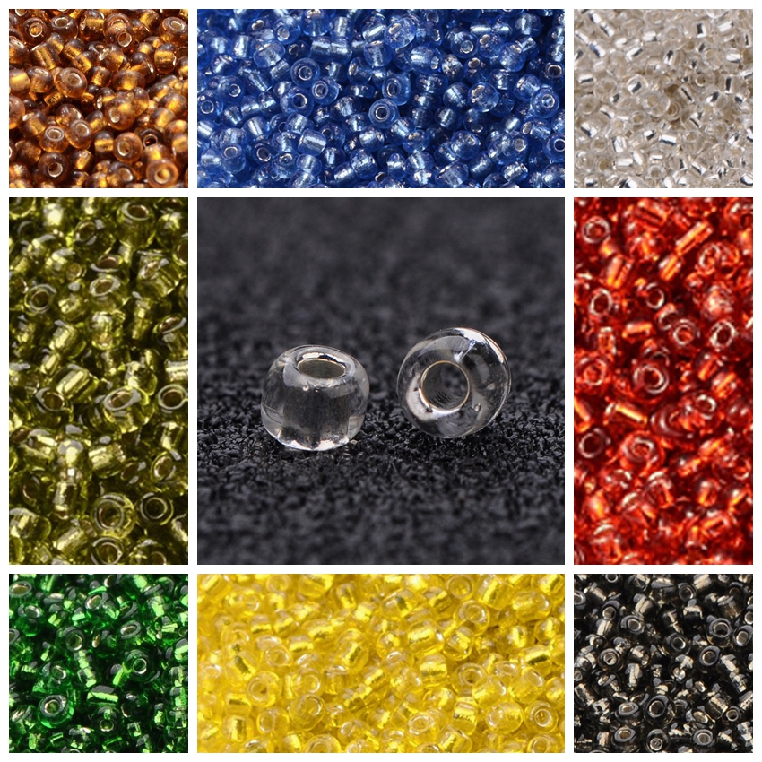 50g 3mm 8//0 Round Glass Silver Lined Seed Beads 19 Colors Jewellery Craft Making