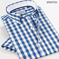 Smart Five Brand Men Shirt Short Sleeve Casual Patterns Plaid Shirts For Men Slim Fit 2016 Camisa Social 5XL 6XL