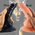 Realistic Dog Dildo Large Wolf Dildo Animal Sex Toys for Men Fetish Women Stuffed Dildo G-Spot Masturbation Anal Plug Toy Cheap