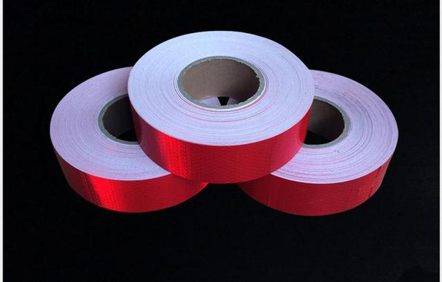 5cm*5M Self-adhesive Reflective Tape High Visibility Red Reflective Warning Tape For Van Car Traffic Sign