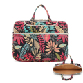 Red Blue Leaf Laptop handag soft canvas Notebook shoulder bag 12 13.3 14.6 15.6 computer sling bag Sleeve for macbook pro