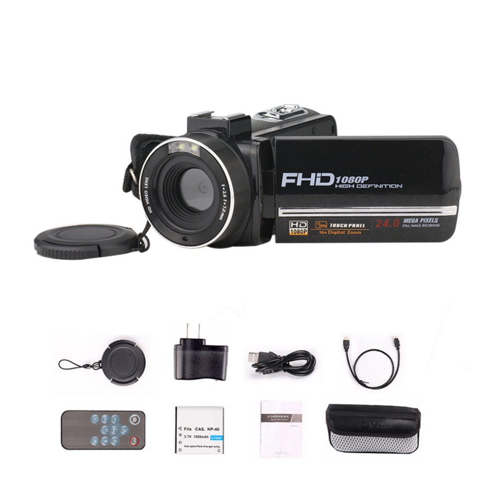 24 millions PX caméra vidéo Numérique 8X Zoom Avec WiFi Microphone 1080 P HD 3 Écran DIS Antishake Pour SONY CMOS Caméscope À La Maison