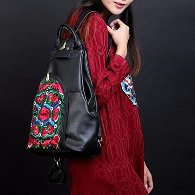 En Pour D'école Vintage Les Marque Noir Occasionnel Véritable À Sac Femmes Célèbre Xiyuan Cuir clair De Sacs Dos Adolescentes Voyage PEwzgqqx6