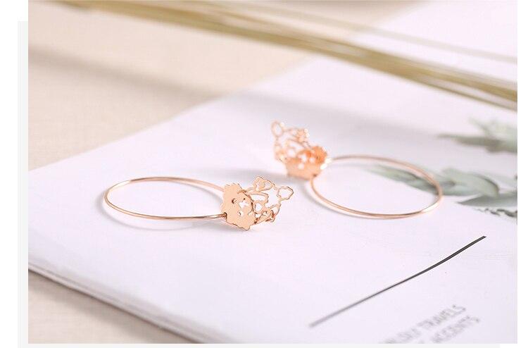 rose gold dog drop silver hoop earrings 04_03