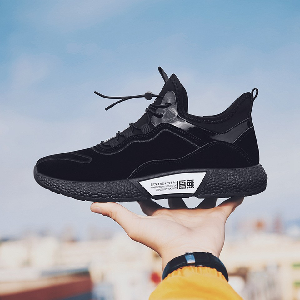 MUMUELI Gray Black Leather 2019 Designer Casual Breathable Shoes Men High Quality Fashion Luxury Ultra Boost Brand Sneakers L771 22