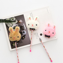 3 pcs Color rabbit carrot gel pen 0.5mm ball pen Black color pens for writing signature kawaii kids gift School supplies FB765