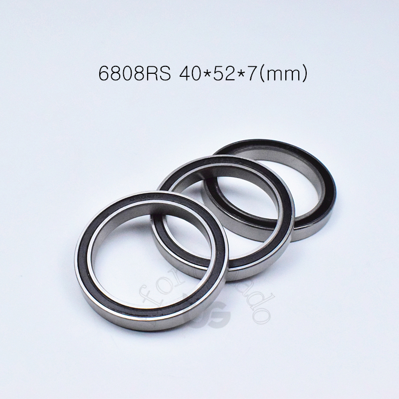 6808RS 40*52*7(mm) 1Piece Bearings Rubber Sealed Bearing Thin Wall Bearing 6808 6808RS Chrome Steel Free Shipping Bearing