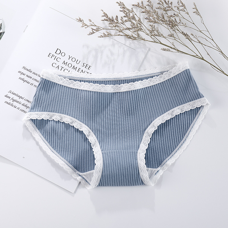 IOLPR Japanese thread cotton underwear women sexy lace side low waist no trace large size girls briefs sexy panties wholesale in women 39 s panties from Underwear amp Sleepwears