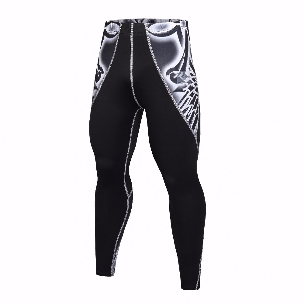 Hot sales new Brand Mens Long Compression Pants Speed Dry Crossfit Fitness Workout Pants Anti-Bacteria Leggings Trousers