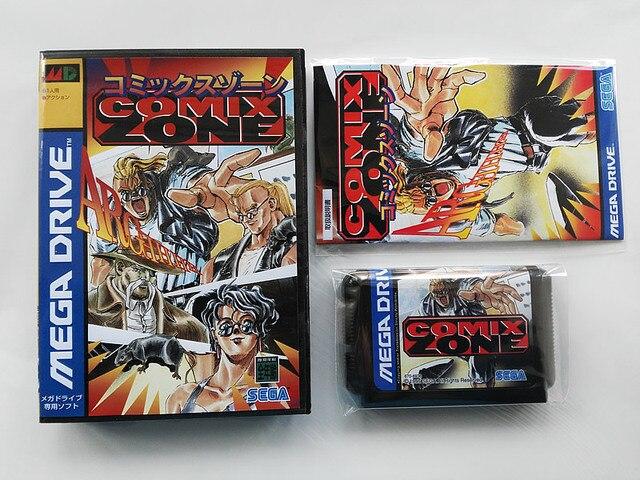 MD Spel: COMIX ZONE (Japan Versie!! Doos + handleiding + cartridge!!)