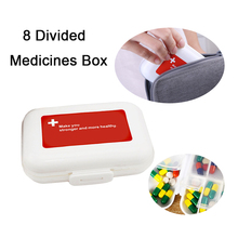 Mini Pill Organizer Classification Tablets Container 8 Divided Medicines Box Splitters Storage Dispenser weekly pillbox