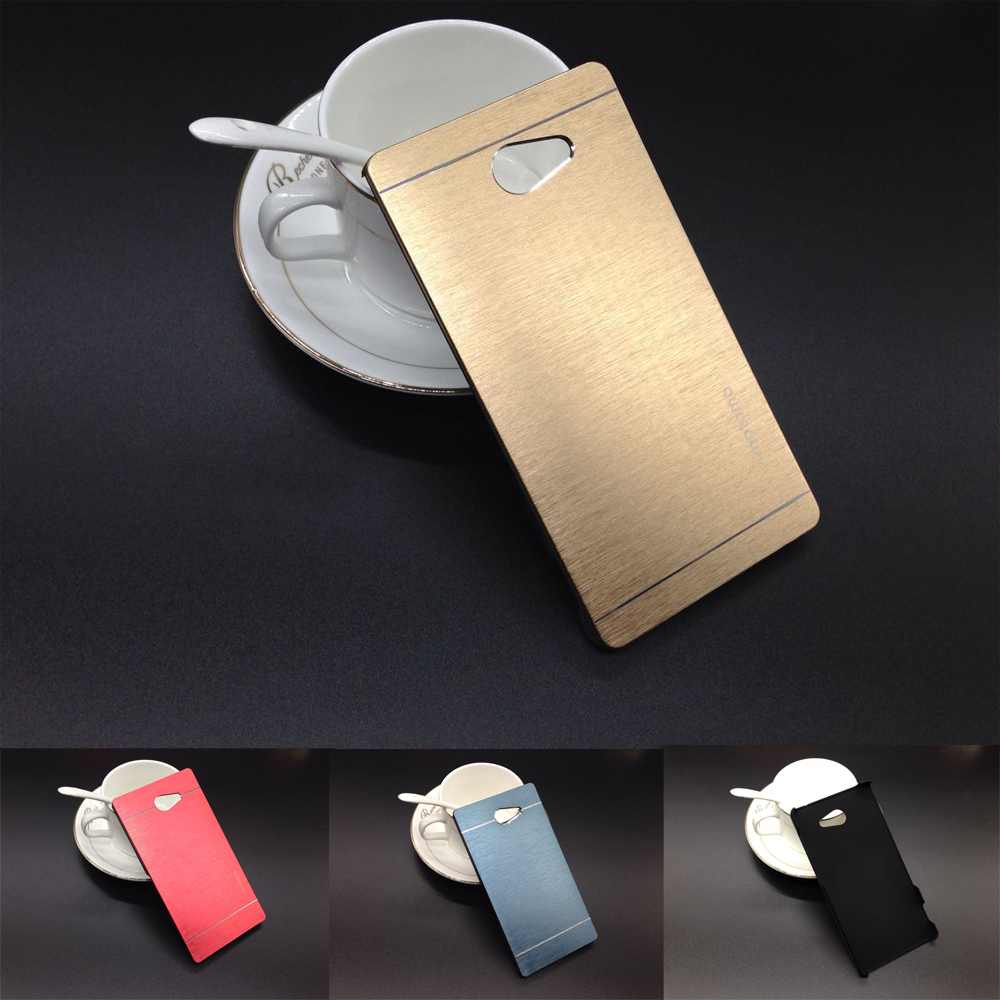 Soft Silicon Tpu Or Plastic Cases For Sony Xperia M2 S50h D2303 Case Dual Luxury Brushed Metal Aluminium Pc Material D2302 D2305