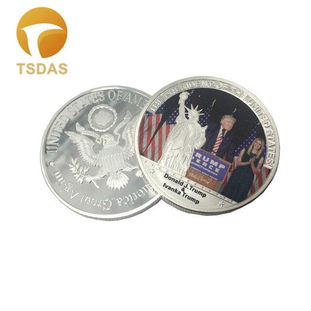 1 Stück Uns Donald Trump Ivanka Versilbert Münzen Usa Trump Der