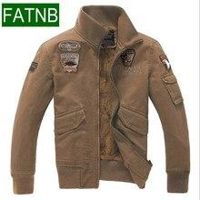 Marke Military Jacke Größe 4XL100% Baumwolle Männer Mäntel Mit Samt innen 2016 Frühling Winter Militar Herren Jacken Kleidung