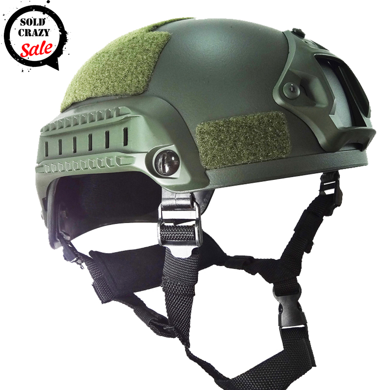 Military font b Tactical b font Airsoft H Paintball Mich 2001 Helmet ABS Plastic CS Combat