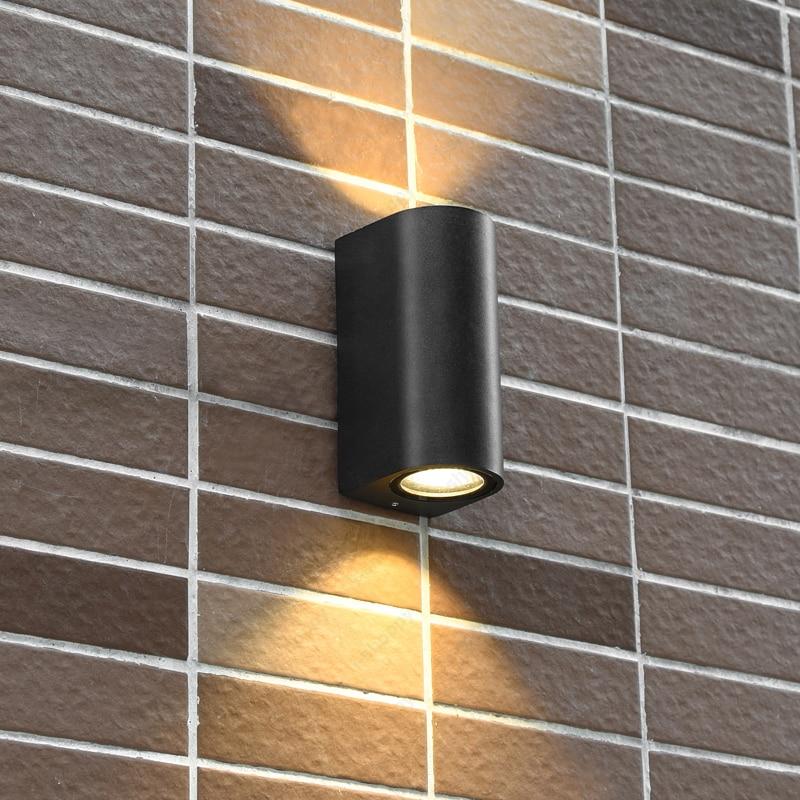 Haut bas 10 w cob led mural luminaire lampe tanche for Luminaire exterieur balcon