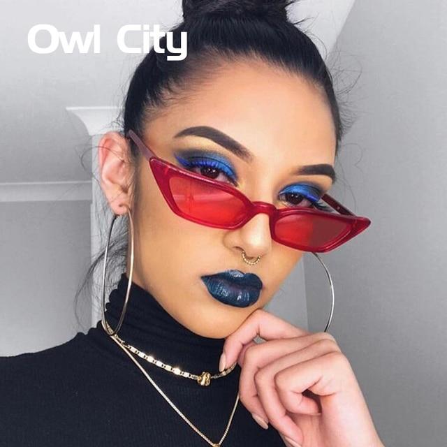 Cat Eye Ladies Sunglasses Tinted Assorted Colours Lens Retro Eyewear