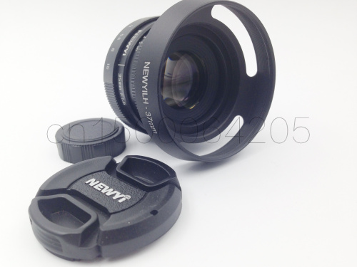 7 in 1 kit 35mm f/1.6 CCTV mini lens for for <font><b>sony</b></font> <font><b>A6500</b></font> A6300 A6000 A5100 all NEX mount mirroless Camera & hood Adapter image