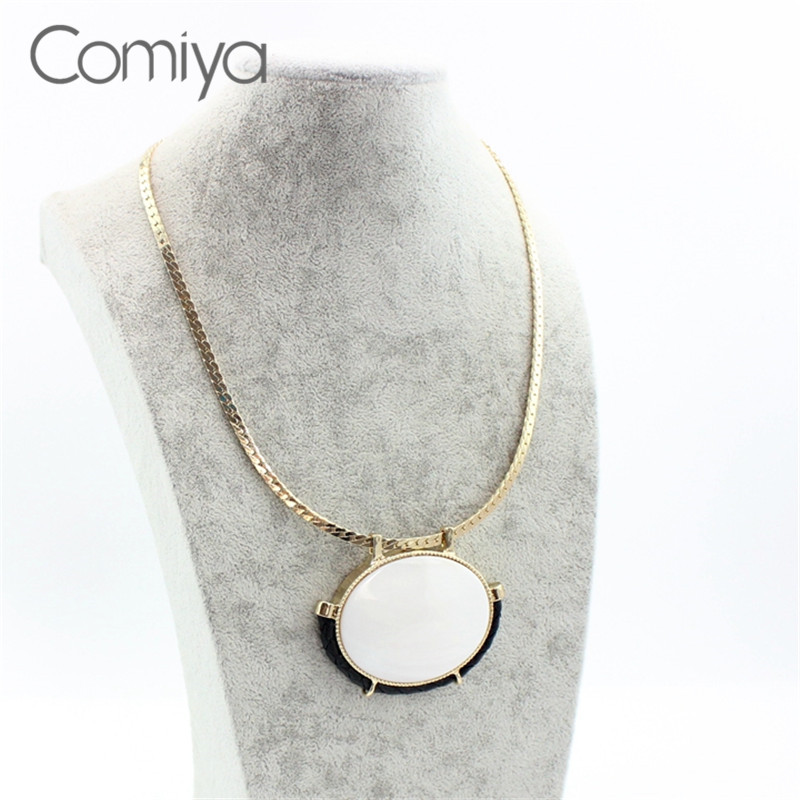 Comiya handmade assassin creed wholesale fashion boho link comiya handmade assassin creed wholesale fashion boho link chain oval shell pendants necklaces women accessories necklace aloadofball Image collections