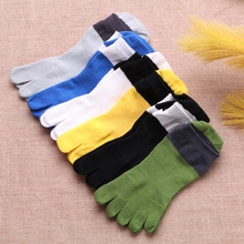 New Designed 1 Pair Men Mesh Meias Five Finger Toe Socks Cotton Polyester Spring Funny Socks