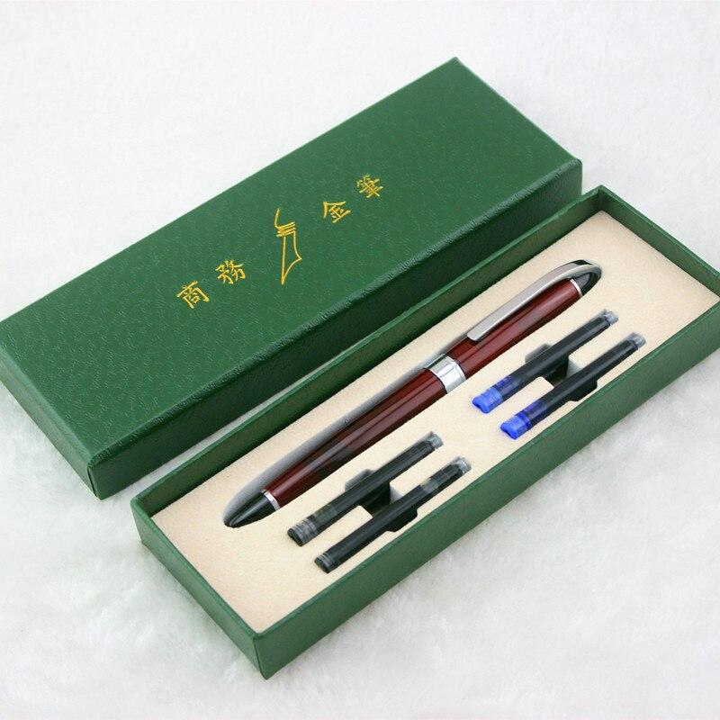 Из Металла Цвет авторучка Мода Baoer серии средний 0,5 мм СИБ заменить чернила перо офис школьные канцелярские принадлежности для студентов