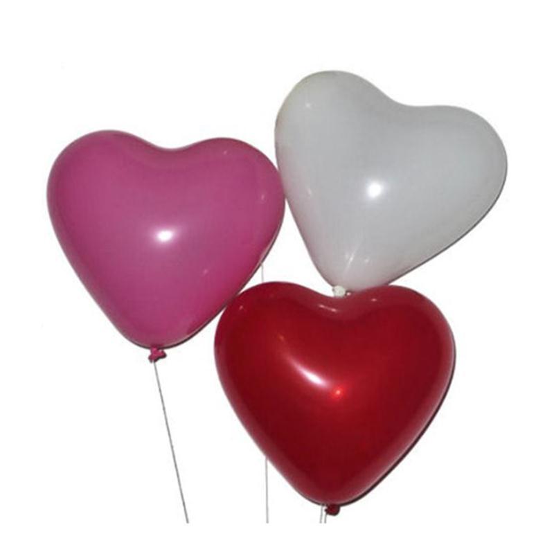 50pcs  Latex Balloons Heart Shaped Thickening Pearl Balloons Wedding Supplies Pa