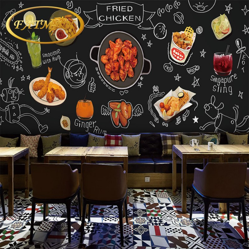 photo wallpaper korean fried chicken beer chalkboard hand