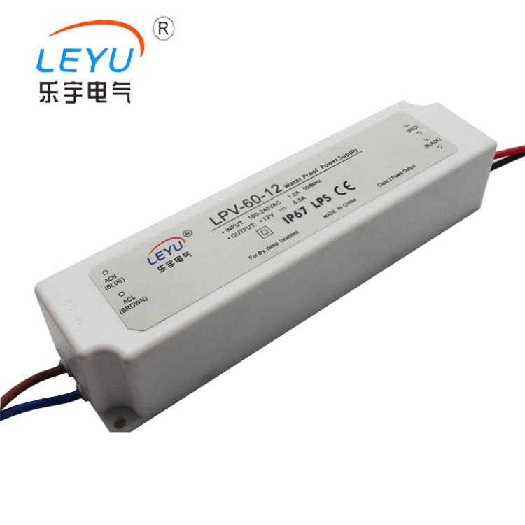 high quality best price IP67 plastic 12v 5a 60w waterproof led transformer made in China original dx5 printer head made in japan with best price have in stock for sale