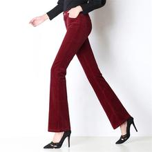 d3c8d589af140 Free Shipping 2018 New Women s Corduroy Long Pants Girls Plus Size Flare  Pants High Quality Mid