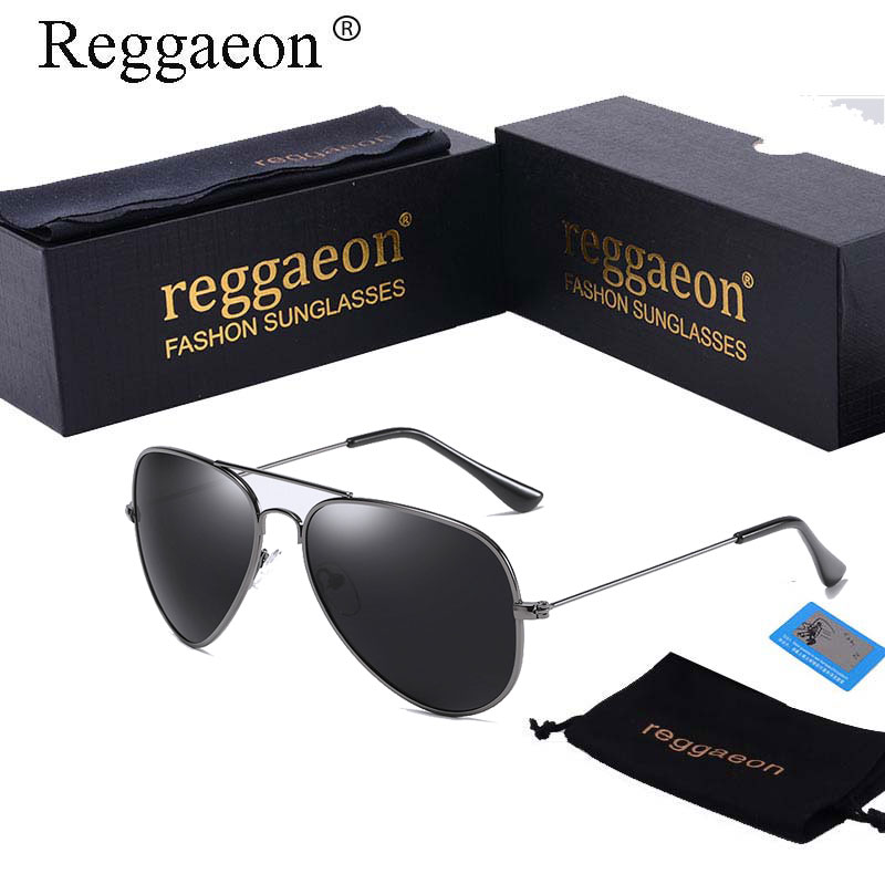 2018 Raggaeon hot rays Polarized sunglasses man women pilot aviator sun glasses metal frame sliver small uv400 55mm lens 3025