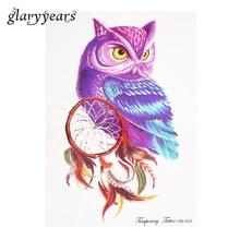 1 Piece Dreamcatcher Owl Pattern Tattoo Sticker Women Back Body Art DIY Product Temporary Waterproof Tattoo Sticker Makeup HB649
