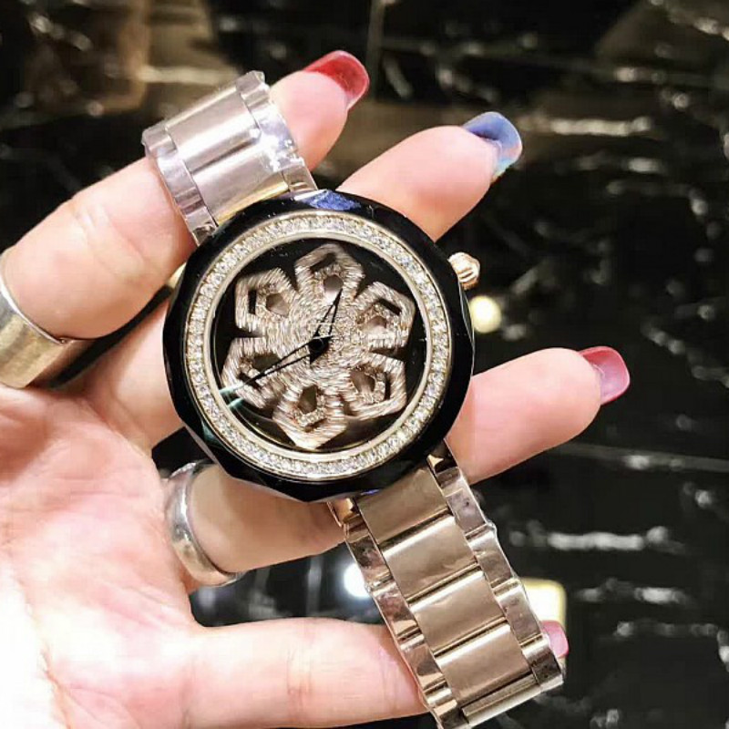 Luxury Brand Fashion luxury Women Quartz Watches Lady Shining Rotation Dress watch Big Diamond Stone Clock watch relojes mujer weiqin new 100% ceramic watches women clock dress wristwatch lady quartz watch waterproof diamond gold watches luxury brand