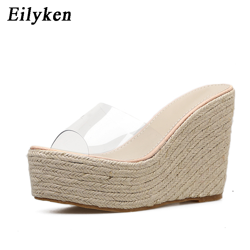Eilyken Women's Sandals Shoes Slippers Jelly Sexy Wedges Summer New Casual PVC Size-34-40