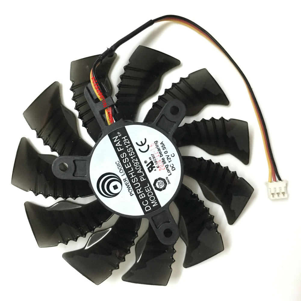 computer GPU radiator VGA Cooler fan For GIGABYTE GTX960 GTX 970 MINI-ITX graphics card cooling (PLA09215S12H 85MM 3Pin) ga8202u gaa8b2u 100mm 0 45a 4pin graphics card cooling fan vga cooler fans for sapphire r9 380 video card