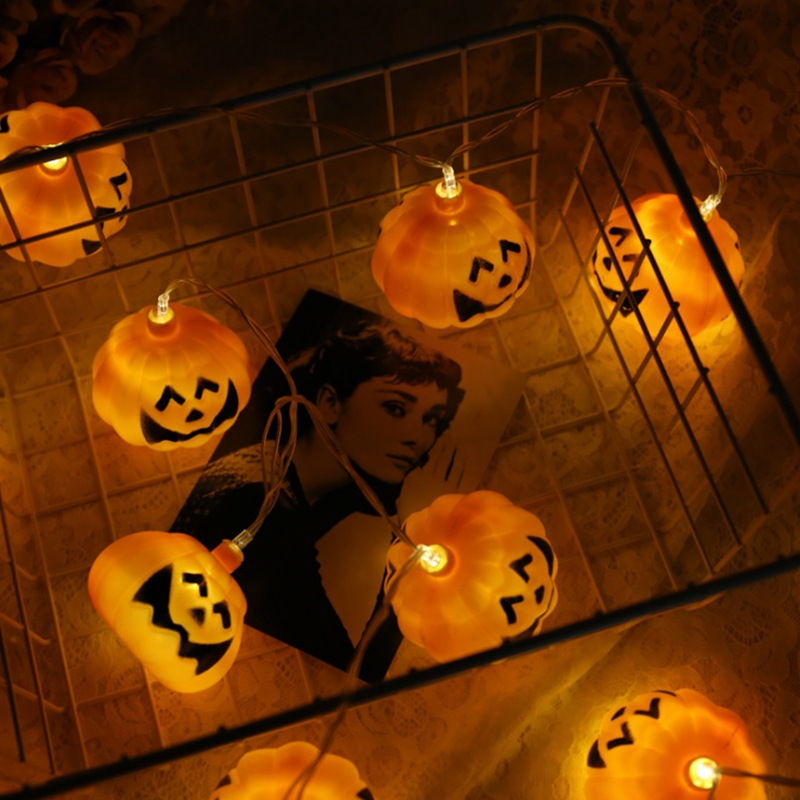 Pumpkin Halloween Led Strip Copper Wire Luminous Led Sting Light For Halloween Home Party Decorations Glow Props Party Supplies