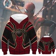 Boys Girls Kids Hoodies Sweatshirts The Avengers Endgame 4 Quantum Realm Spiderman Superhero Captain America Iron Man Sweatshirt
