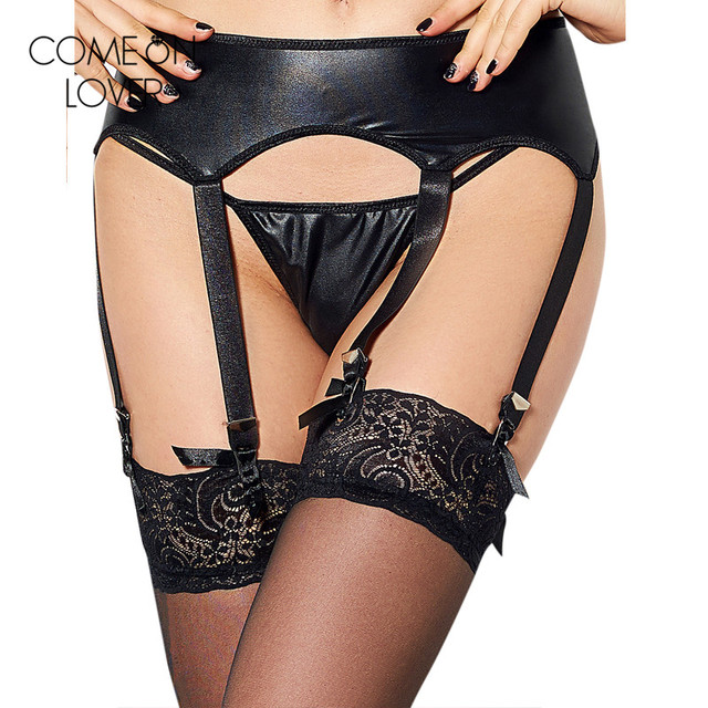 f75e1af82d4 PE5113 New garter and g-string suspender belt leather garter sex plus size  garter belt hot women black panty with garter straps